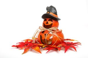 Automne, Décoration, Visage, Funny, Gourde, Halloween